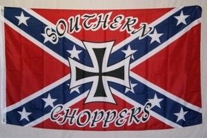 Rebel Southern Choppers 3'x5' Polyester Flag