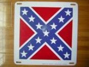 "Rebel Battle metal sign 12"" x 12"""
