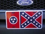 "Tennessee Battle Aluminum License Plates (Auto Tag). 6""x12"""