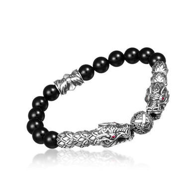 Double Dragon King Onyx Bracelet - Deific