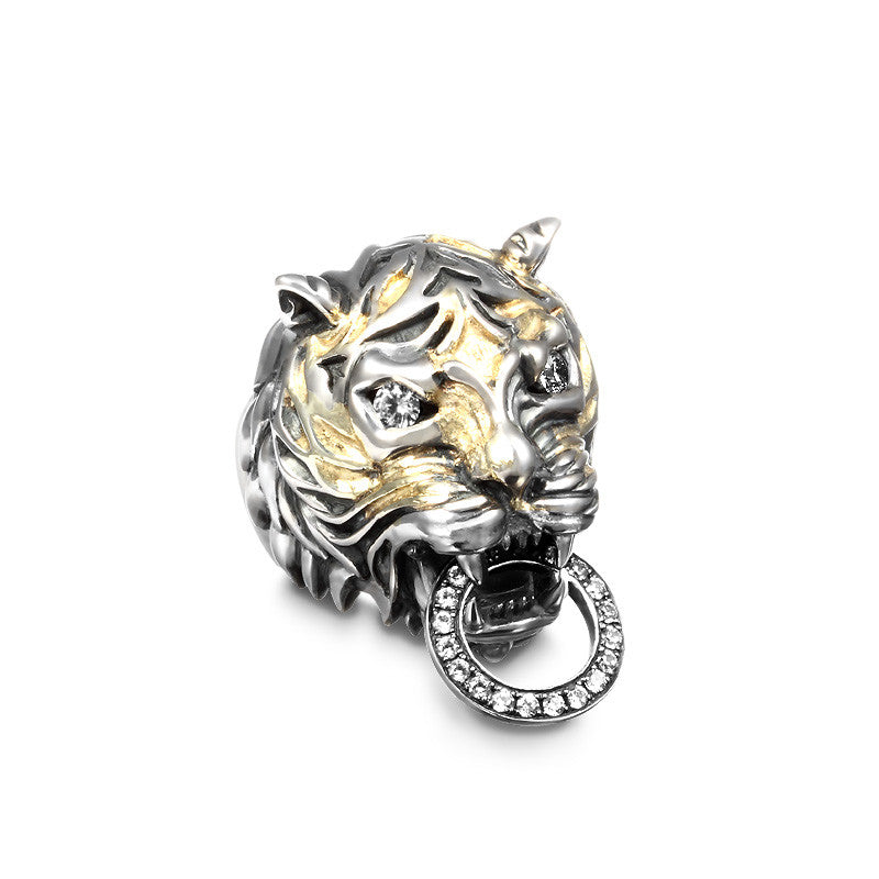 Lord Lucien Tiger 18K Infused Ring - Deific