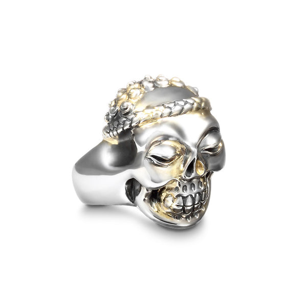 Inner Peace Skull 18K Infused Ring - Deific