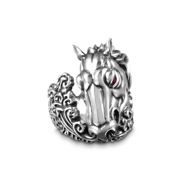 Wild Stallion Ruby Ring - Deific