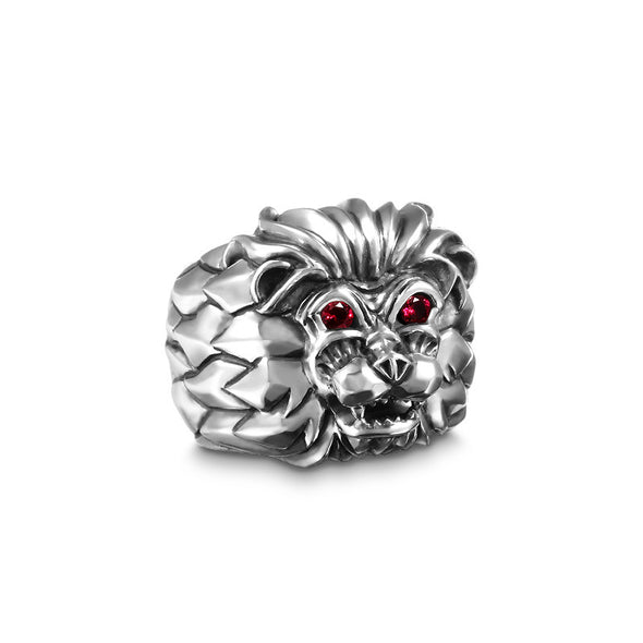 Aseroth Lion Gem SM Ring - Deific