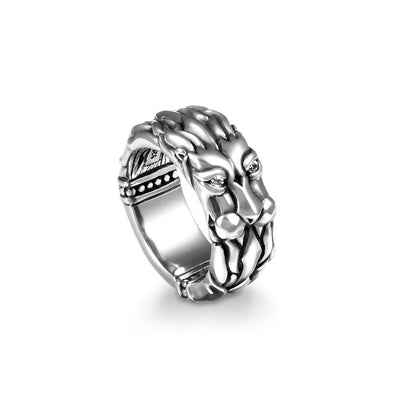Lord Leonidas Lion Band Ring - Deific
