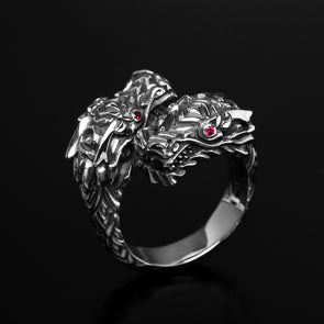 Double Dragon King Ring