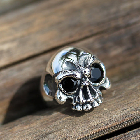 The Half Skull Gem Ring - Deific - 1