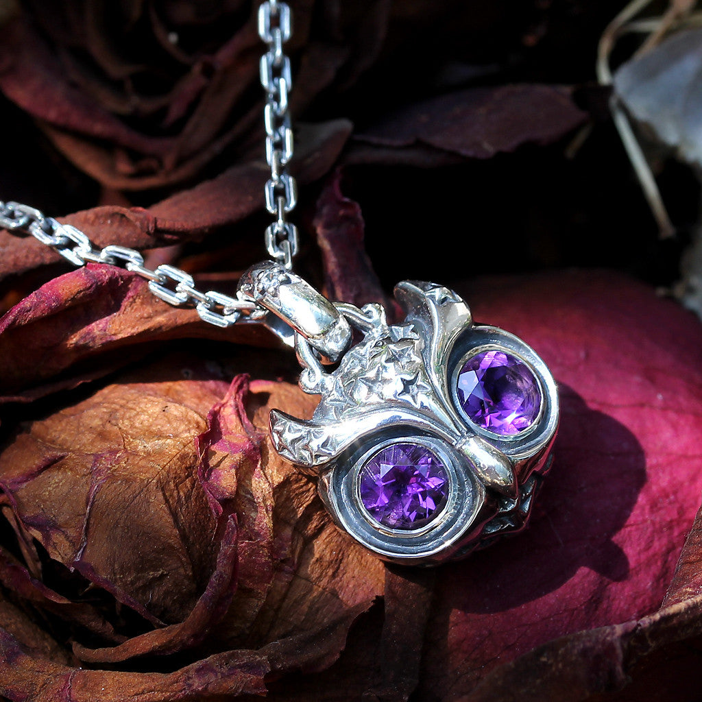 Starry Night Owl Pendant - Deific - 1