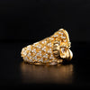 Grand Celestial Owl 10K Gold SM Ring 1 Of 1 - Deific