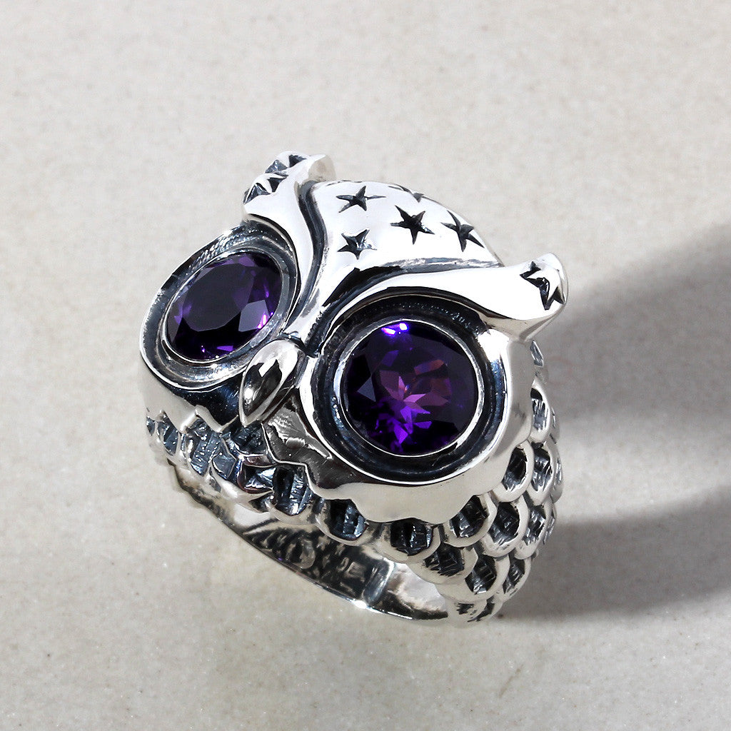Starry Night Owl Ring - Deific - 1