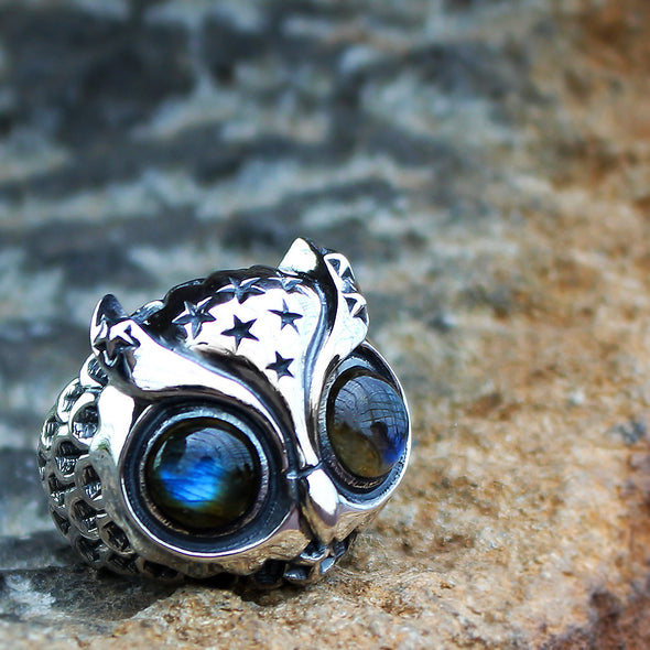 Starry Night Owl Ring - Deific