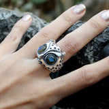 Starry Night Owl Ring - Deific - 4