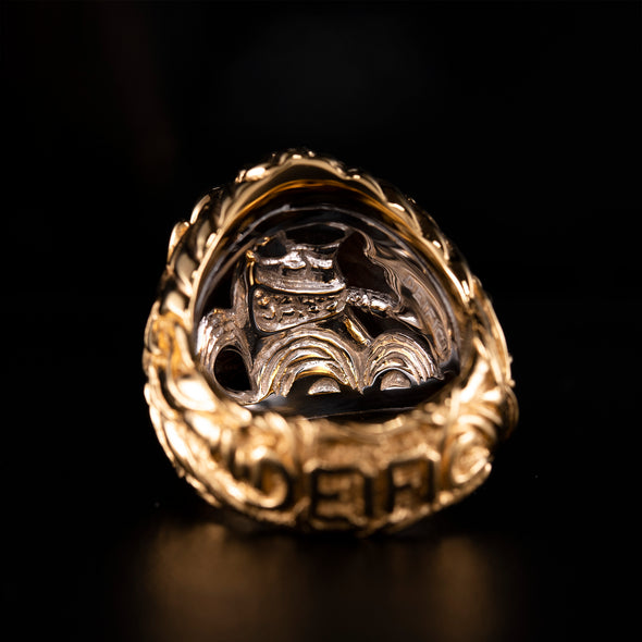 Raging Oba Gorilla 10K Gold SM Ring 1 Of 1 - Deific