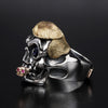 The Trump Skull 18K Cigar Ring 1 of 1 - Deific