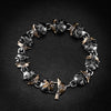 Custom Yak Skull 18K Gold Infused Bracelet 1 Of 1 - Deific