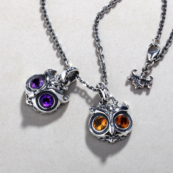 Starry Night Owl Pendant - Deific - 3