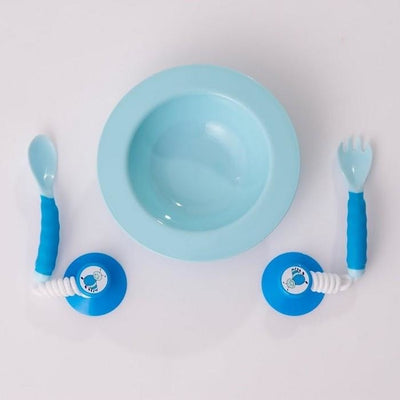 ezee reach cutlery bowl fork spoon blue