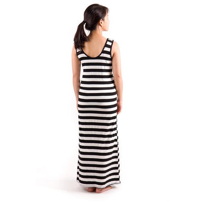 Maternity Maxi Dress Stripes Toddlership
