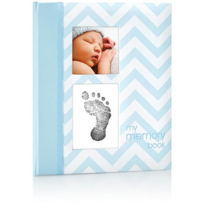pearhead chevron baby book blue