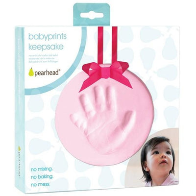pearhead babyprints keepsake pink