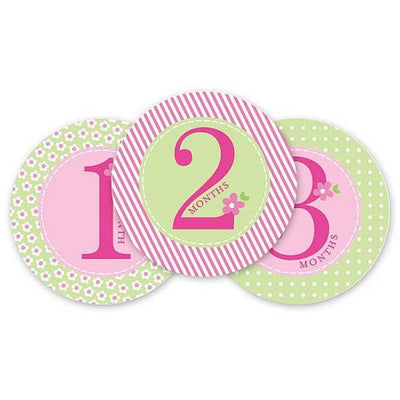 Pearhead Baby Milestone Stickers - Girl