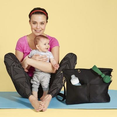 skip hop duet 2-in-1 diaper tote black