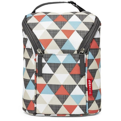 Skip Hop Grab & Go Double Bottle Bag Triangles