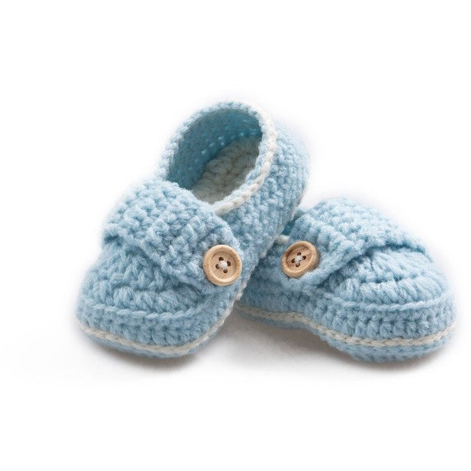 Crochet Button Shoes