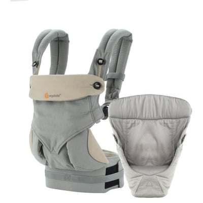 ergobaby 360 bundle of joy grey with grey easy snug infant insert