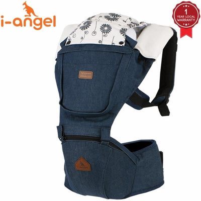 i-angel denim hipseat baby carrier starlet
