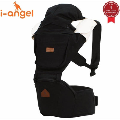 i-angel irene hipseat baby carrier black solid