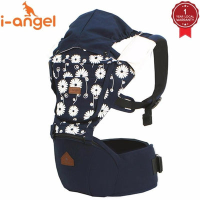 i-angel irene hipseat baby carrier navy floral
