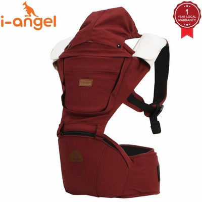 i-angel irene hipseat baby carrier wine solid