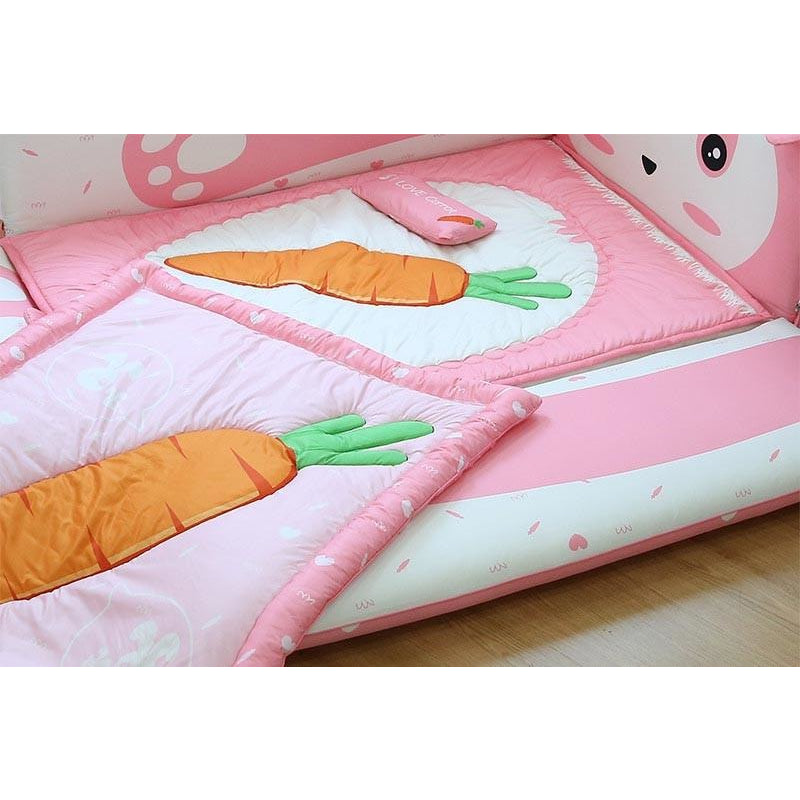 gray rabbit with carrot bedding set