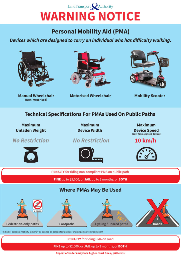 LTA Warning on Personal Mobility Aids (PMA)