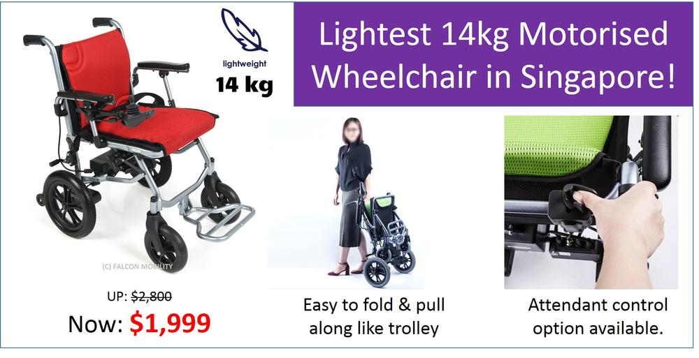 Lightest Motorised Wheelchair in Singapore!
