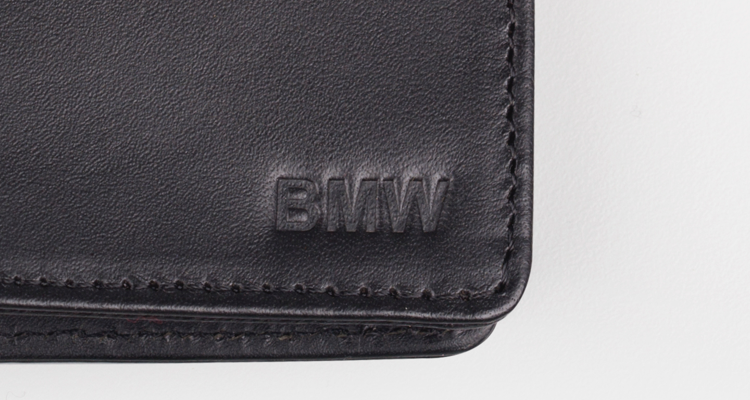 Leather custom logo embossing
