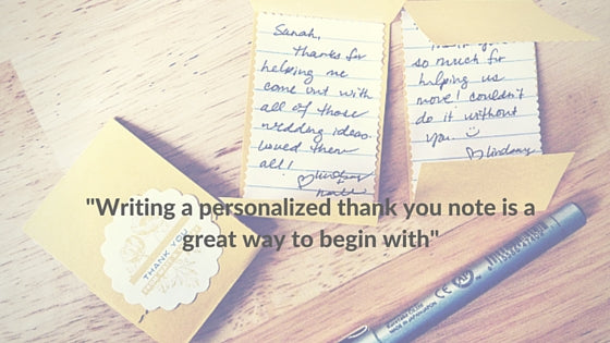 Personalized Hand Written Thank You Note