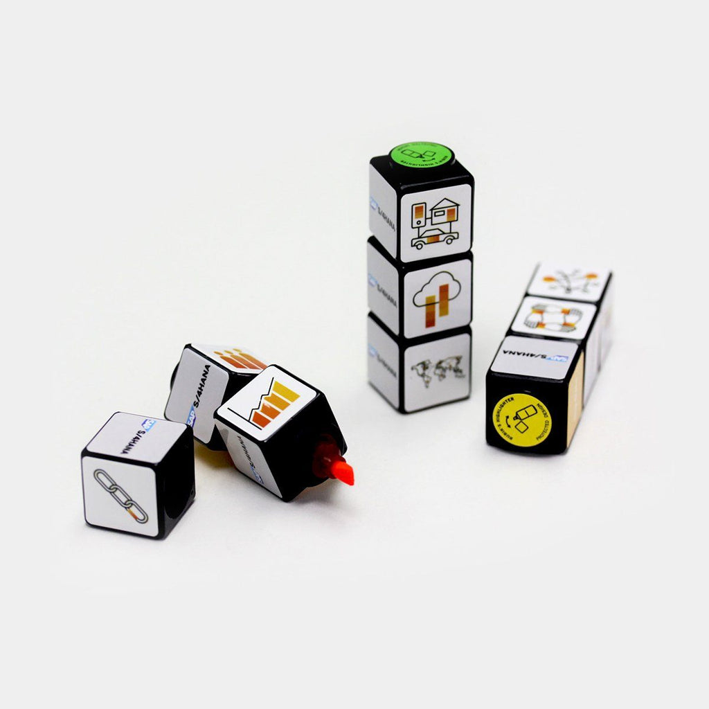 Set of 3 Rubiks Highlighters