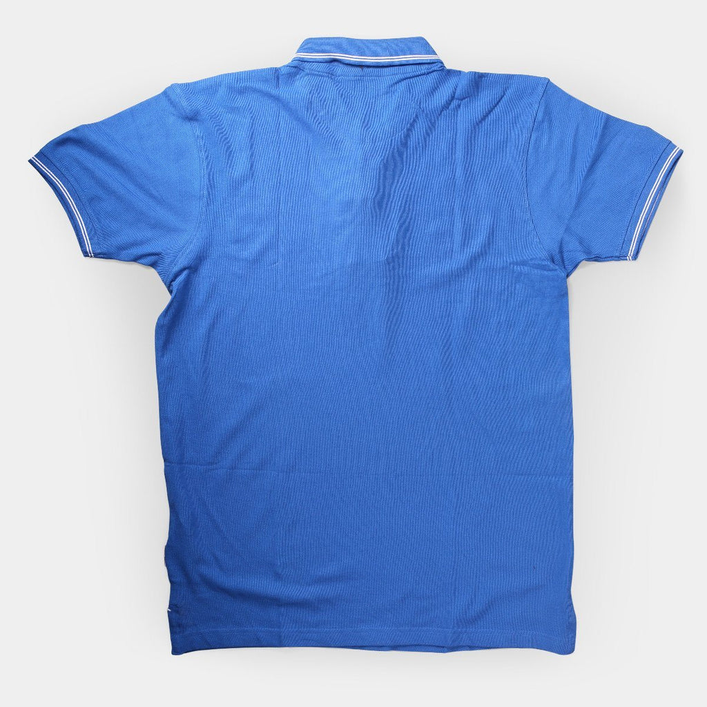 Flying Machine Polo T-shirts Royal Blue with White Tipping