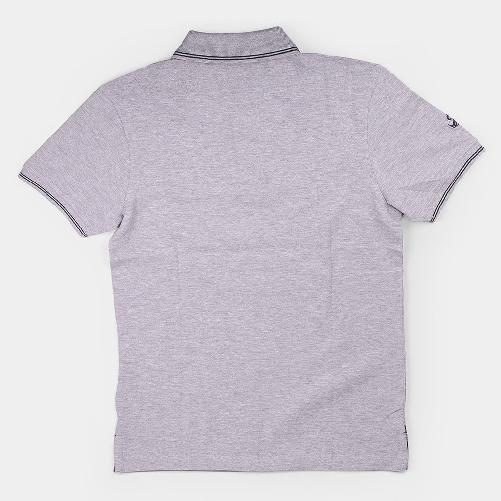 Flying Machine Polo T-shirts Grey with Black Tipping