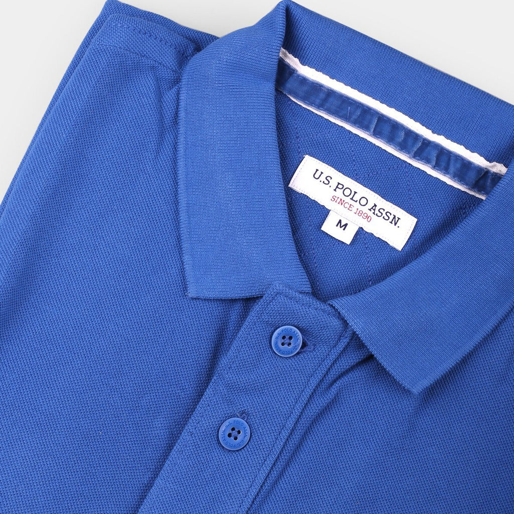 US Polo Collared T-Shirt Royal Blue