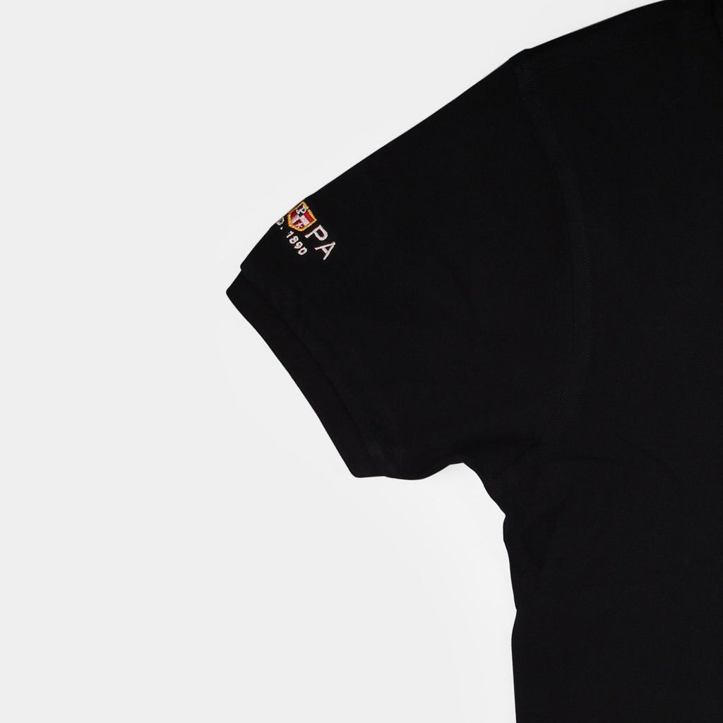US Polo Collared T-Shirt Black