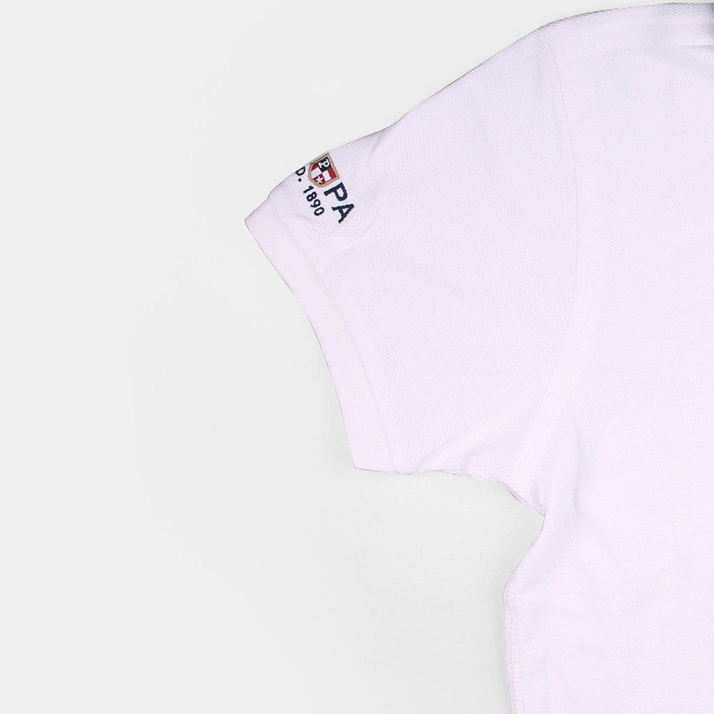 US Polo Collared T-Shirt White