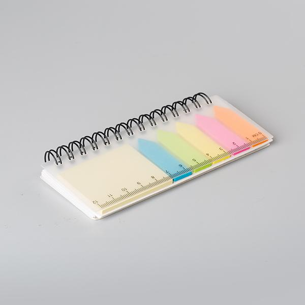 Recycled Sticky notes sets with plastic ruler and memo pads