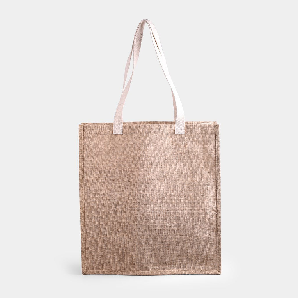 Base Fold Jute Tote Bag