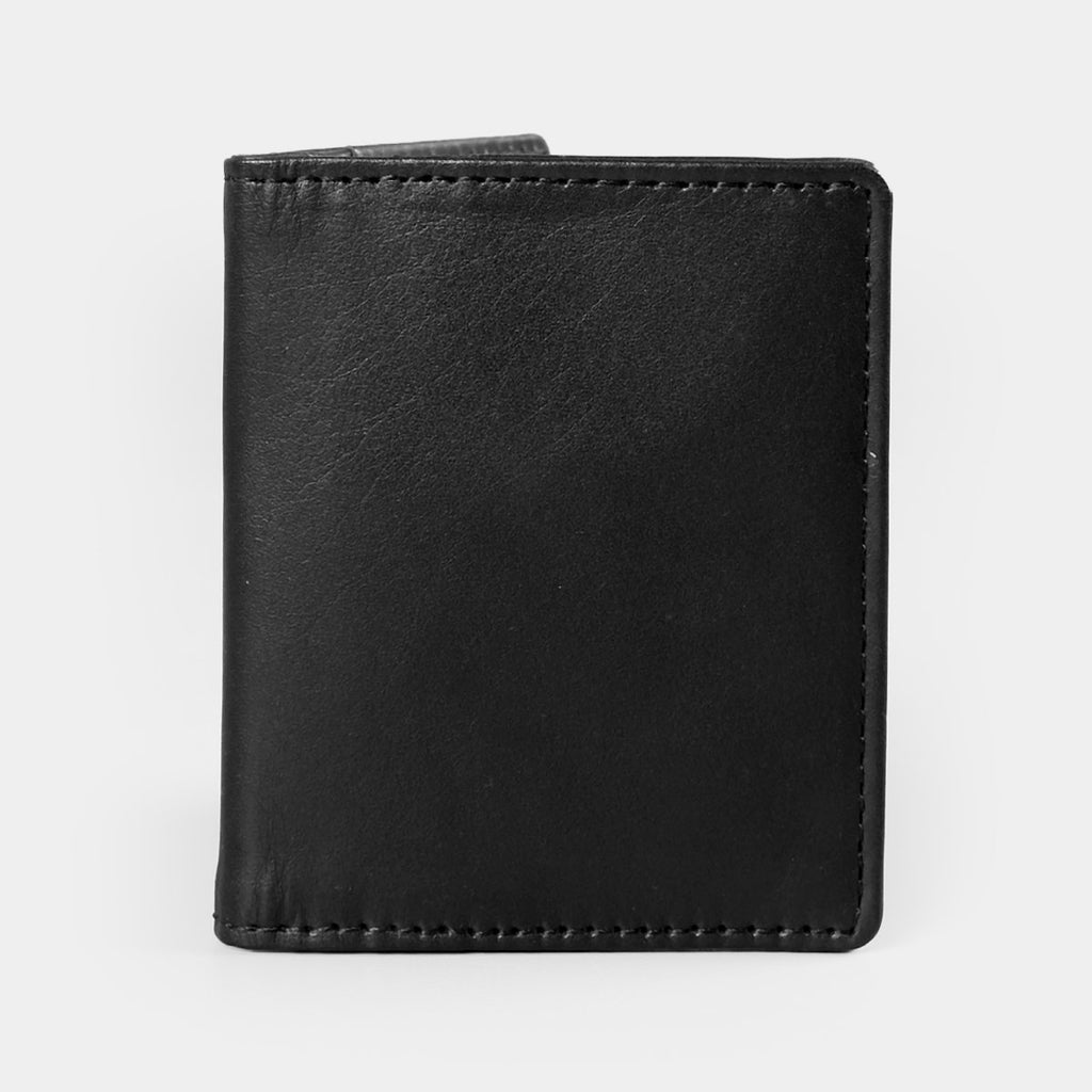 Black Bi-fold Card Wallet with  Money Clip