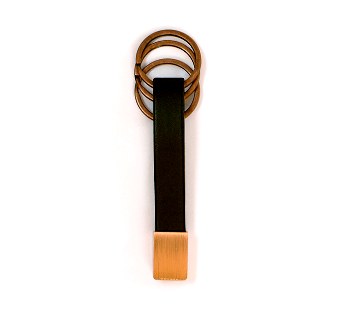 Copper Twist Keychain