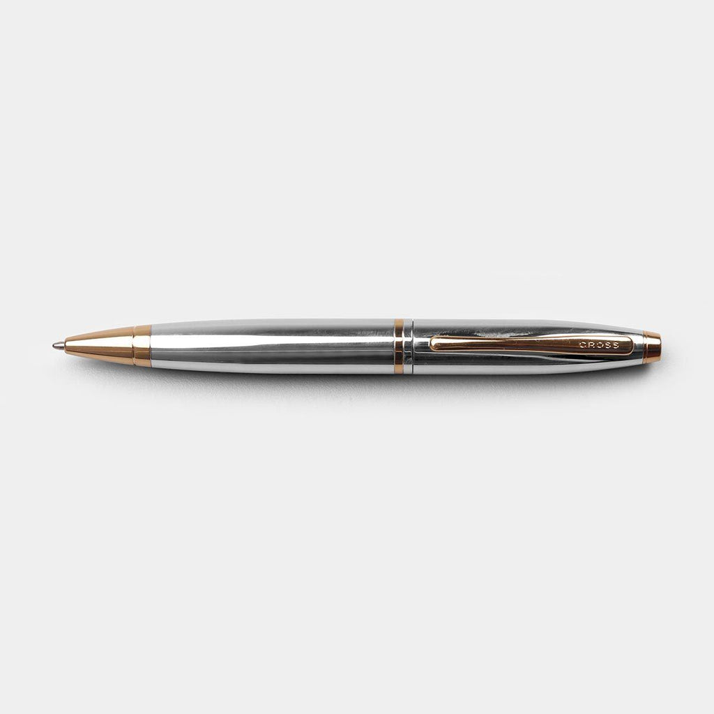 CROSS Calais Chrome/Rolled Gold Ball Point Pen
