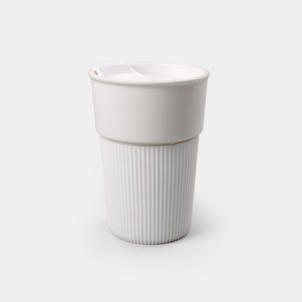 Coffee cup with silicon sleeve
